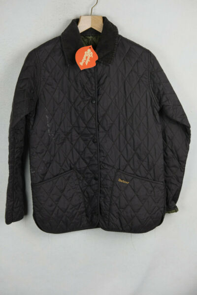 BARBOUR Womens Jacket VINTAGE COUNTRY QUILTED Black Size 10 UP2RL GBP 30.00