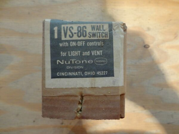 NUTONE VS 86 quot;On Offquot; Wall Switch $9.00