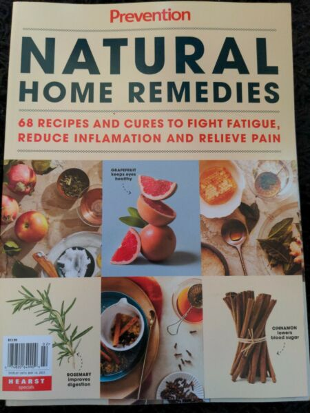 NATURAL HOME REMEDIES 68 Recipes PREVENTION Special Edition 96 Pgs FIGHT FATIGUE $5.00