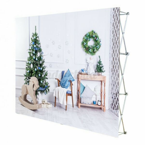Iron Retractable Stand Wall Frame Wedding Party Photo Backdrop Banner Display $62.15