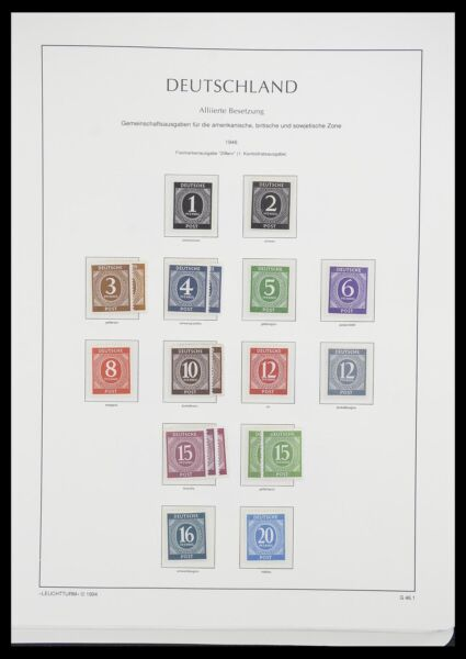 Lot 33349 Stamp collection Allied Zone 1945 1949. $1259.00