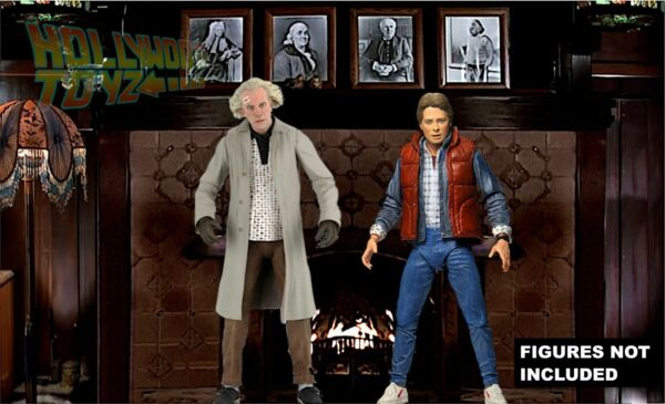 Back to the Future NECA Doc Brown Mansion Fireplace Diorama Backdrop No Figure