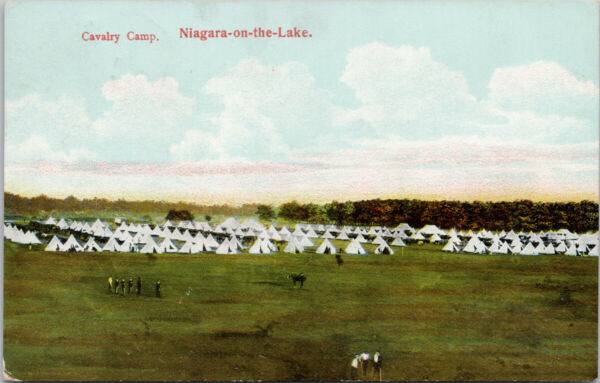 Cavalry Camp Niagara on the Lake Ontario Canadian Military Tents Postcard G78