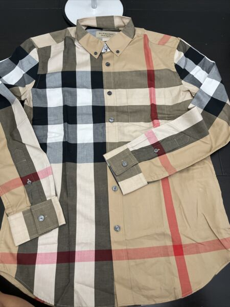 Men#x27;s BURBERRY Long Sleeve Slim Fit Shirt S M $185.00