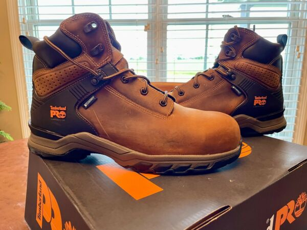 Timberland 6quot; Pro Compos. Safety Toe Hypercharge Waterproof Size 10 New in Box  $85.00