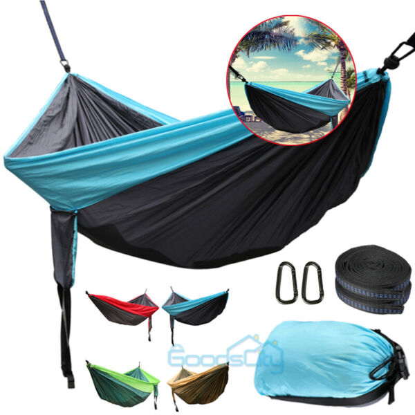 Rope Hanging Hammock Swing Camping Canvas Bed w Heavy Duty Strap amp; Hook $15.91