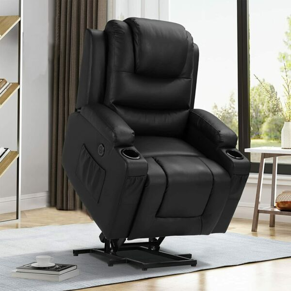 Power Lift Recliner Chair with Massage and Heat Electric Recliners for Elderly $405.99
