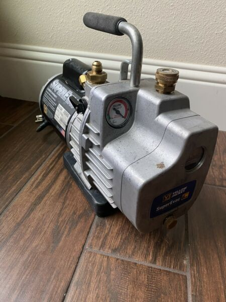 YELLOW JACKET SUPEREVAC 2 STAGE 6CFM 115V VACUUM PUMP 93560 GREAT PRICE