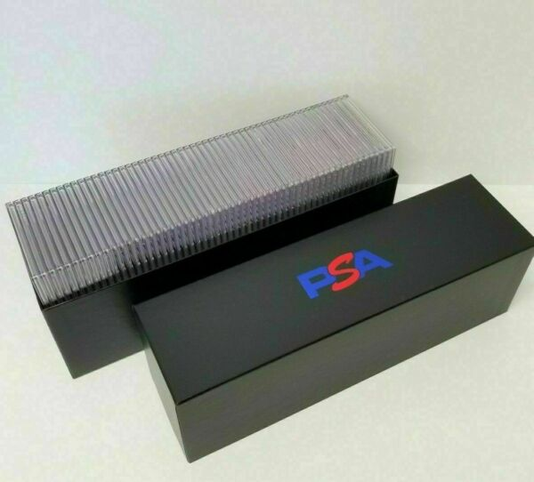 PSA Graded Card Storage Holder Container Black Box Holds 50 55 Graded Cards