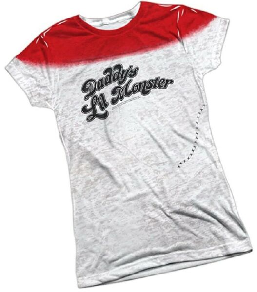 Suicide Squad Harley Quinn Daddy#x27;s Lil Monster Juniors T Shirt S 2XL LIQUIDATION $14.95