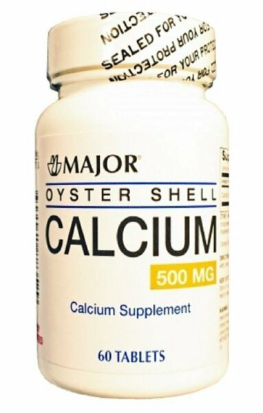 Major Oyster Shell Calcium Tablets 500mg 60ct 3 Pack $11.74