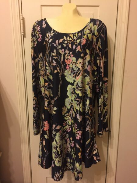Simply A Step Floral Dress Long Top Size Sz 3X XXXL