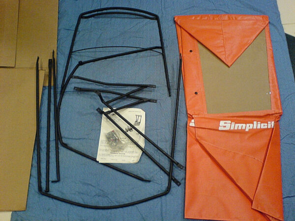 SIMPLICITY SNOW THROWER SNOW CAB FOR THE 555 AND 755 SNOWTHROWERS. 1691943 *NOS*