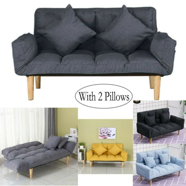 Memory Foam Futon Sofa Bed Couch Sleeper Convertible Foldable Loveseat Lazy Sofa