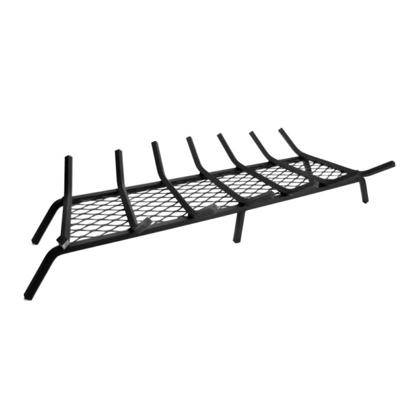 Pleasant Hearth Steel Fireplace Grate 1 2 in. Steel Rods 35.98 in. W 7 Bar