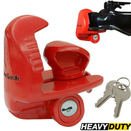 LOCK FOR TRAILER TONGUE Coupler Hitch Security Anti Theft Cop Set Coupling Tow $33.95