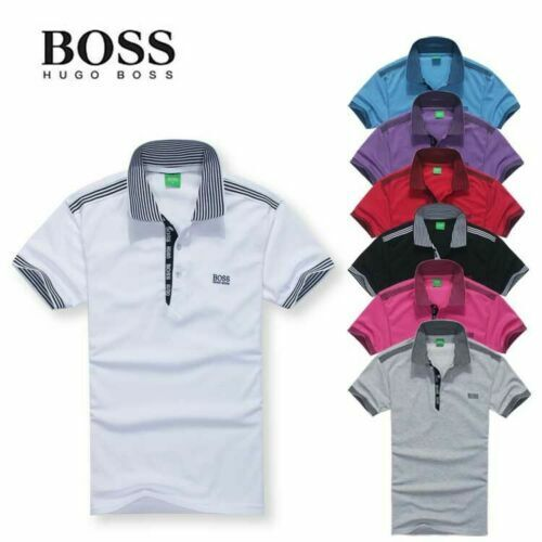 Men#x27;s casual cotton Golf Sports short sleeve POLO tee shirt T shirt Mens Jersey