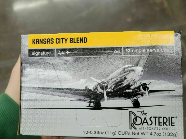 The Roasterie Kansas City Blend Light Rst Coffee Single K Cups Keurig Cups 12ct