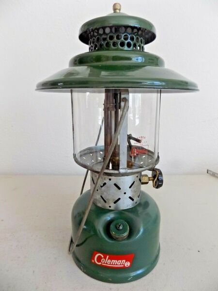 10 1962 Coleman 228E quot;Big Hatquot; W Igniter Gas Lantern Tested Working