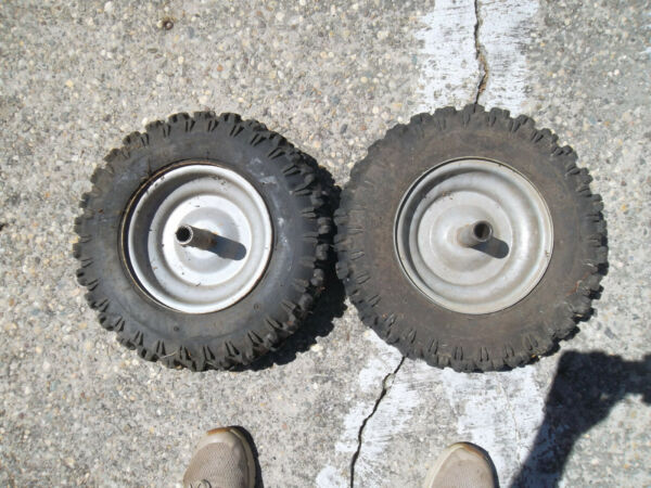 Two Craftsman Snow Blower Wheel amp; tire4.80 8 . Has new tubes in them.