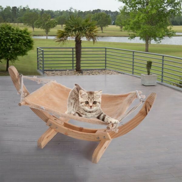 Pet Furniture Cat Bed Warm Hammock Home Castle Soft Plush Bed Sturdy Perch US $30.59