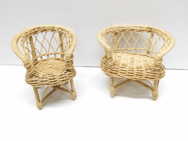 Vintage Wicker Furniture for Barbie type dolls Set B $9.99