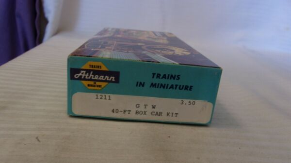 HO Scale Athearn 40#x27; Box Car Grand Trunk Western Brown #516158 Built $22.50