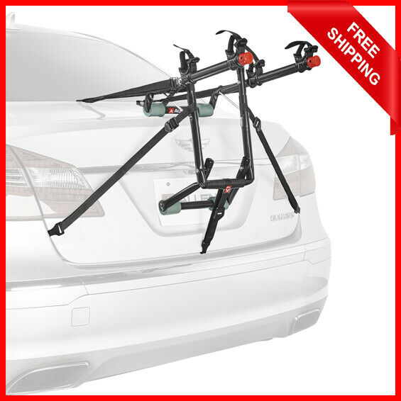 2 Bike Car Rack Carrier Trunk Rear Mounted SUV Bicycle Sedans Sturdy Safe NEW $45.68
