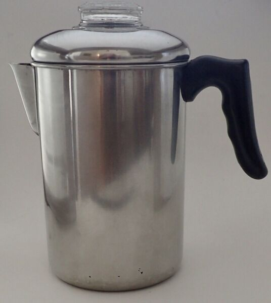 Vintage Quality Camping Stove Top Stainless Steel Coffee Percolator Korea