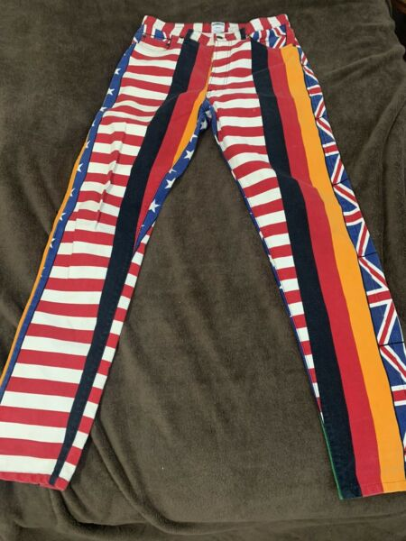 Moschino jeans international flags $115.00