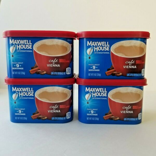 Maxwell House Cafe Vienna Instant Beverage Mix Cinnamon Best By 8 21 $28.99