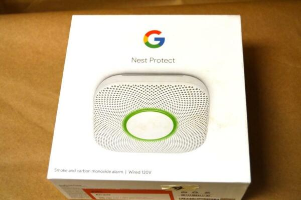 Google Nest Protect Wired Smoke and Carbon Monoxide Detector S3003LWES $81.99