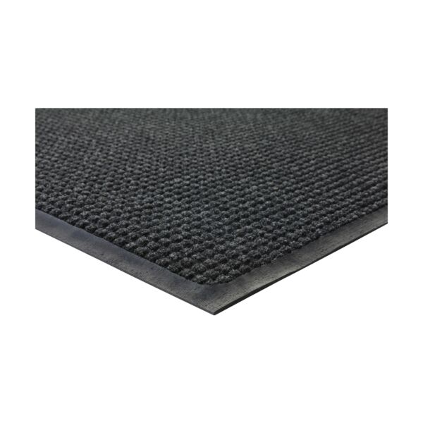 Genuine Joe WaterGuard Indoor Outdoor Mats Charcoal Gray 4#x27; x 6#x27; New