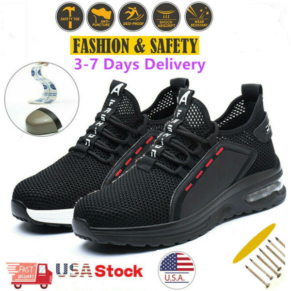 Men#x27;s Safety Work Shoes Steel Toe Bulletproof Boots Indestructible Sneakers Size $44.99