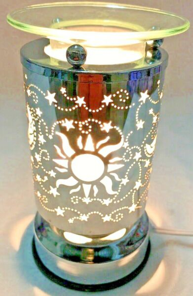 Electric Metal Touch Fragrance Lamp Oil Burner Wax Warmer Night Light g 013 $21.99