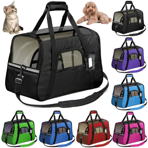 Pet Dog Small Cat Carrier Soft Sided Comfort Bag Travel Case Airline Approved $22.45