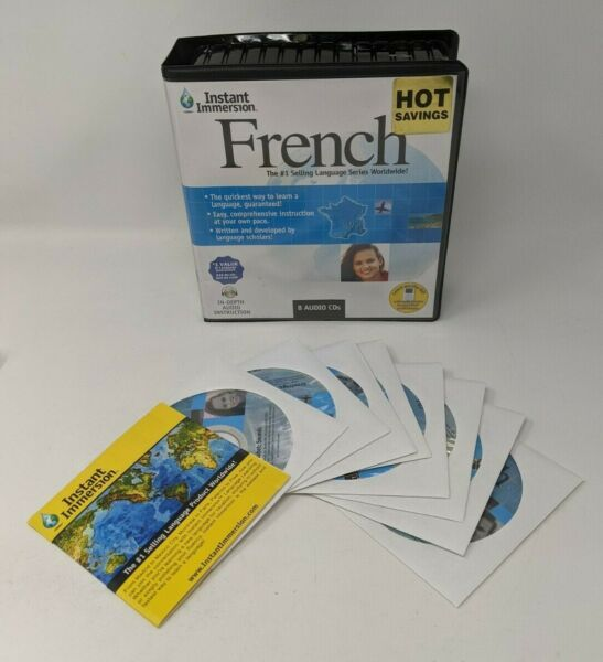 Instant Immersion French 8 Audio CDs Lessons 2007 Topics Ent Course $14.24