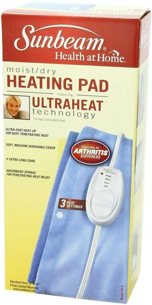 Electric Heating Pad Muscle Cramps Back Joint Care Fast Pain Relief Relaxing New $19.99