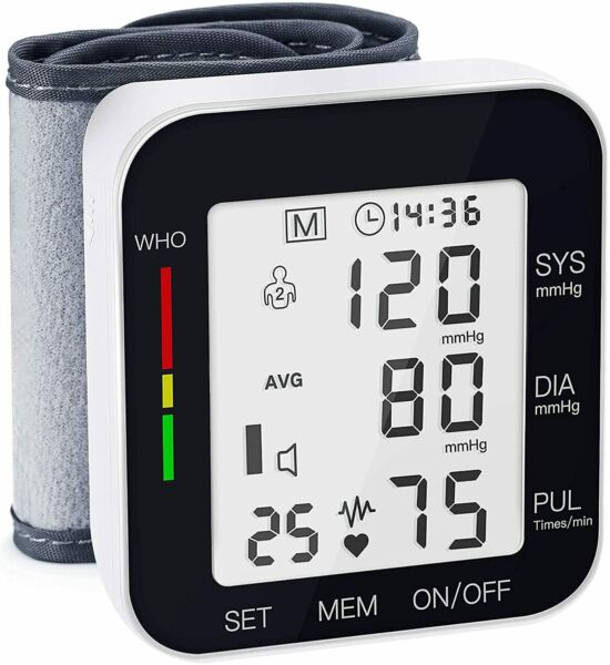 Blood Pressure Monitor Automatic Large LCD Display Adjustable Wrist Cuff Automat $18.00