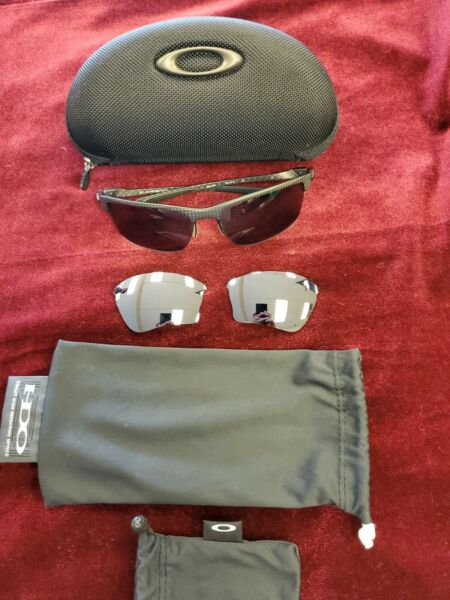 Oakley Carbon Blade Polarized Sunglasses Excellent Condition w Extra Lenses $239.99