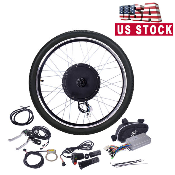 26quot; 48V 1000W Ebike Front Wheel Electric Bicycle Motor Conversion Kit Motor Hub $211.99