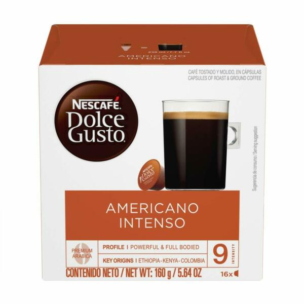 Nescafe Dolce Gusto Americano Intenso 3x16 pods 48 servings EXP: 11 2020