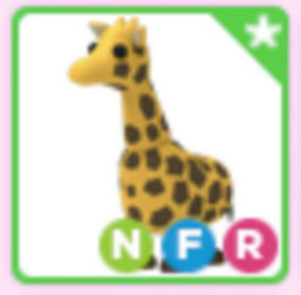 Neon Fly Ride Giraffe Pet For Roblox Adopt Me NFR $99.00