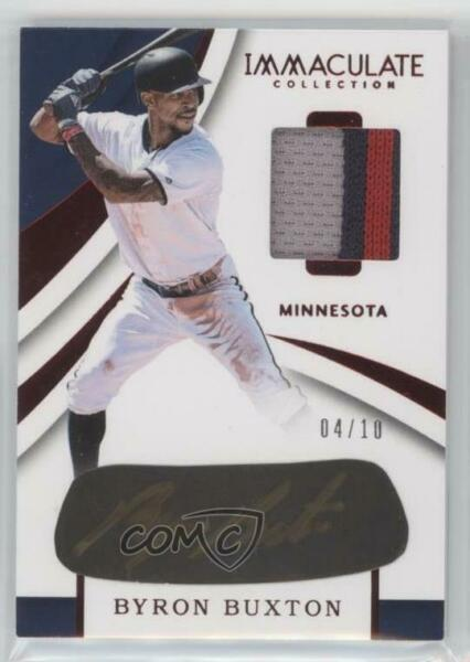 2018 Panini Immaculate Carbon Material Signatures Red 10 Byron Buxton Auto $102.89