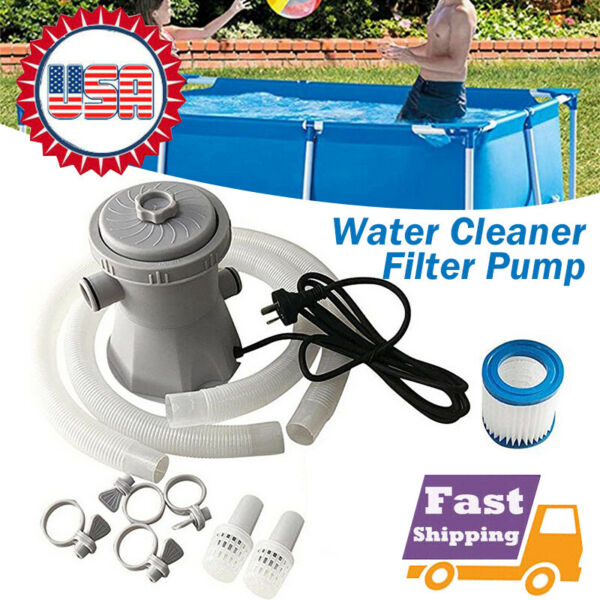 300GAL 110V Electric Filter Pump Set For Swimming Pool Water With Cartridge USA $57.99