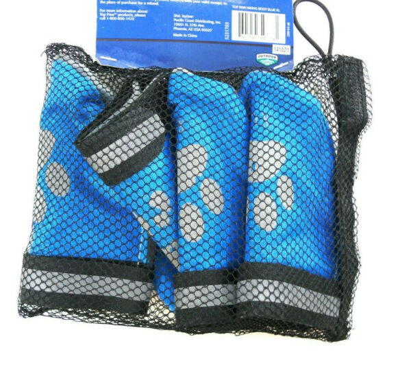 NEW Top Paw Dog Hiking Boots Reflective Booties rubber sole blue gray sz XL $9.90