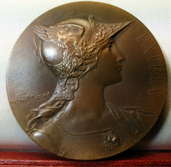 French 68mm marianne woman medal bronze by Rivet savings