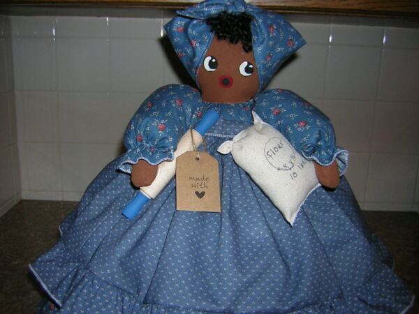 TOASTER COVER DOLL 4 slice toaster cover KITCHEN DECOR Pretty in Blue