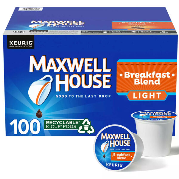 Maxwell House Breakfast Blend K Cup Coffee Pods 100 ct.