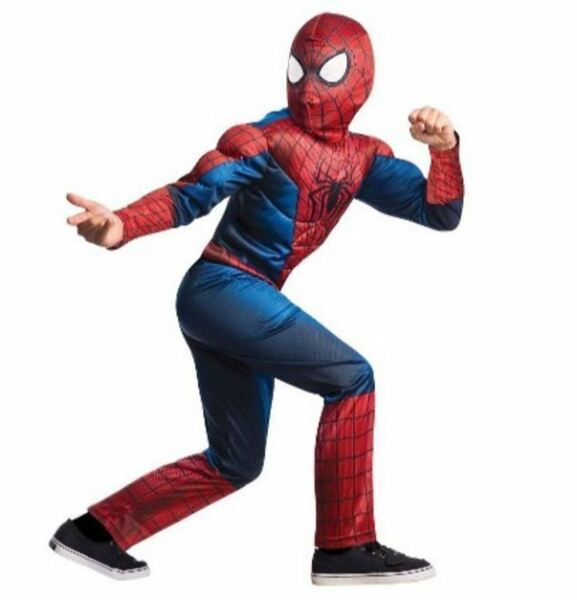 Spiderman Boy Halloween Costume Muscle Size L Age 8 9 10# $37.38